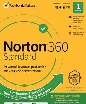 Norton 360 EU Key (1 Year / 1 Device) + 10 GB Cloud Storage